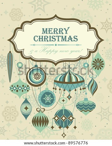 Christmas background with place for text. Vector illustration. - stock vector