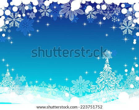 Christmas background with place for your text - stock vector