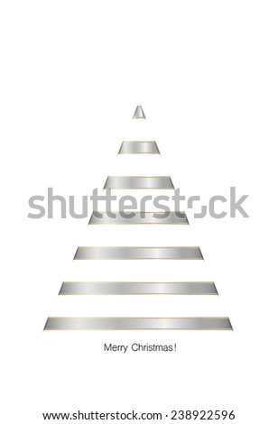 Christmas background with shiny ribbon. Vector illustration. - stock vector