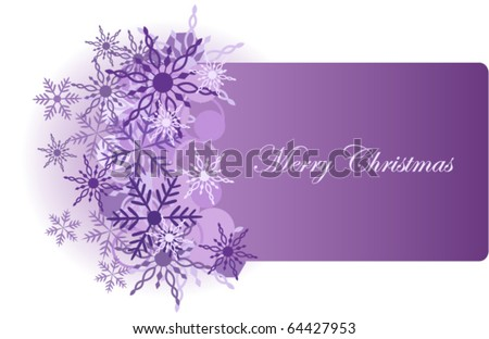 Christmas background with snowflake vector illustration - stock vector
