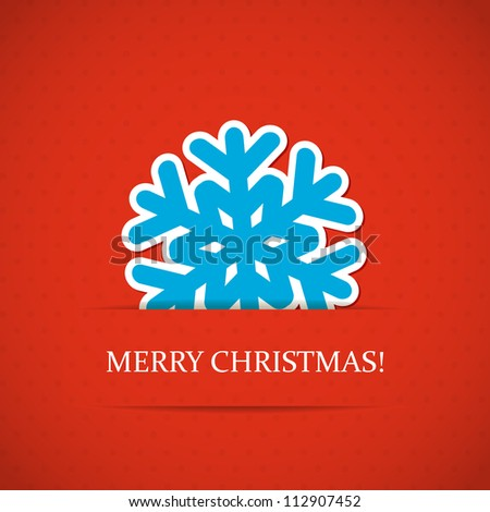 Christmas background with snowflake.  Vector illustration. Eps10. - stock vector