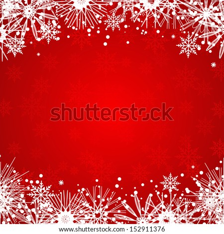 Christmas background with snowflakes. Vector illustration