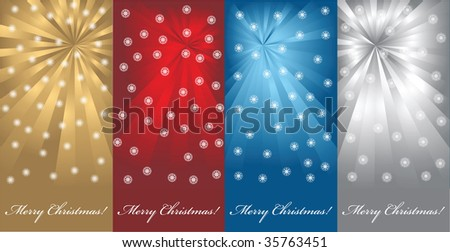Christmas backgrounds - stock vector