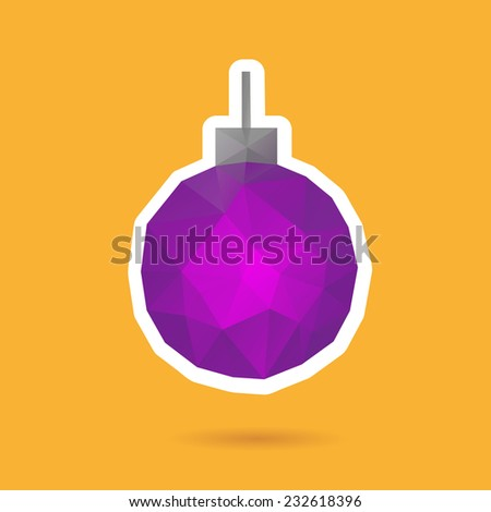 Christmas ball abstract isolated on a white backgrounds, vector illustration  - stock vector