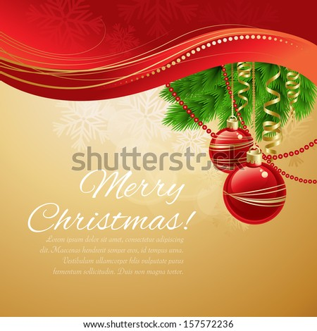 Christmas ball background. Vector  illustration - stock vector