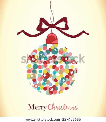 Christmas ball.Christmas background - stock vector