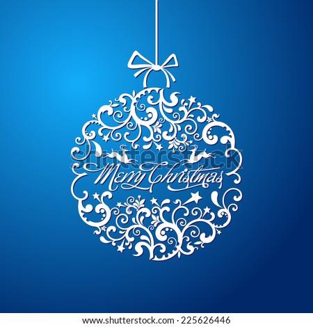 Christmas ball, Christmas tree decorations. vector. - stock vector