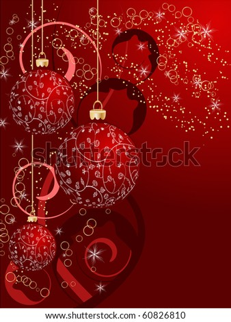 Christmas ball decorative abstraction background