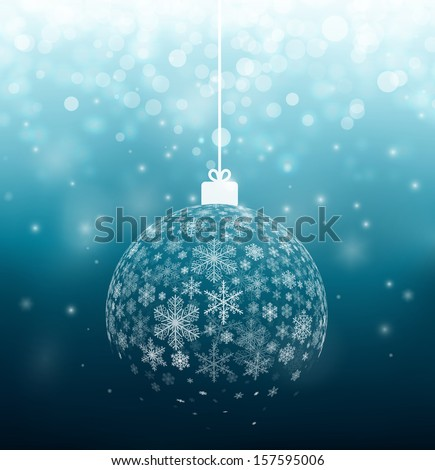 Christmas ball from snowflakes, eps 10 - stock vector