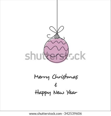 christmas ball hand drawn - stock vector