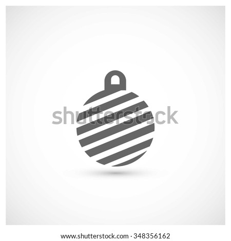 Christmas ball icon. Decorative Pictogram for Christmas. Flat Xmas Icon - stock vector