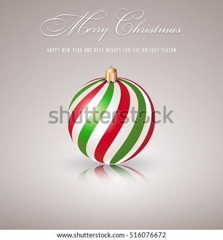 Christmas ball isolated
