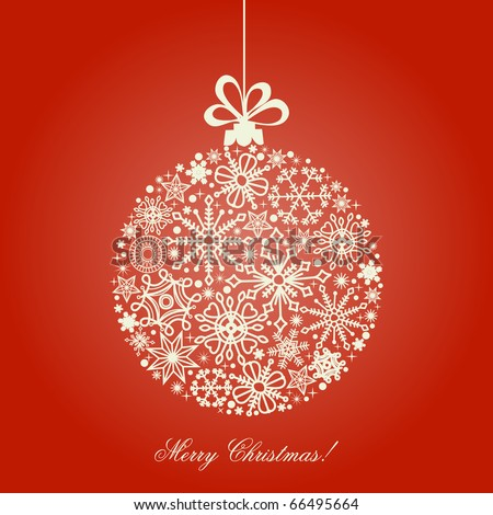 Christmas ball, snowflakes pattern - stock vector