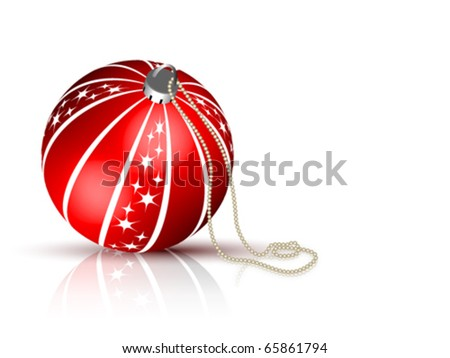 Christmas Ball vector - stock vector