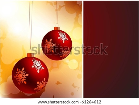 CHRISTMAS BALL VECTOR BACKGROUND - stock vector