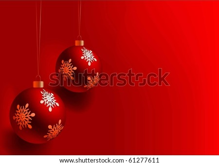 CHRISTMAS BALL VECTOR BACKGROUND