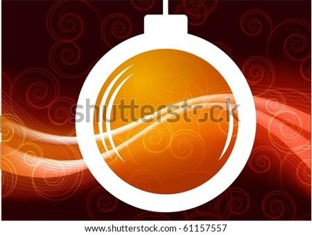 christmas ball vector bakcground - stock vector