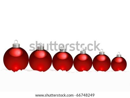 christmas ball vector snow - stock vector