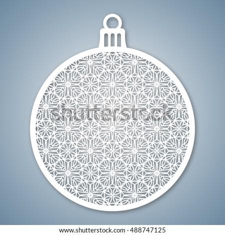 Christmas Ball Geometric Pattern Laser Cutting Stock Photo (Photo ...