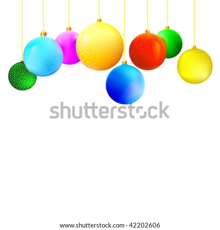 Christmas balls. An abstract New Year's background.