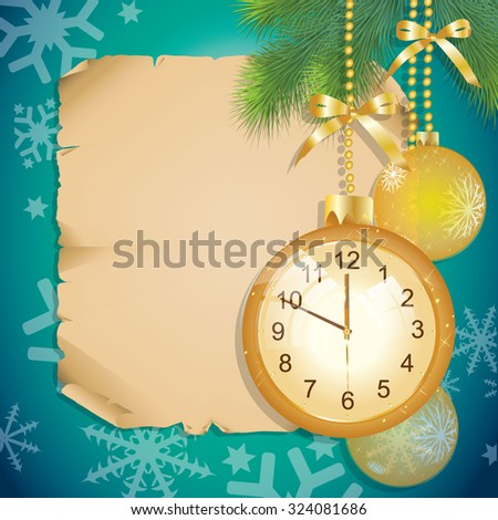 Christmas balls. During the New Year - stock vector