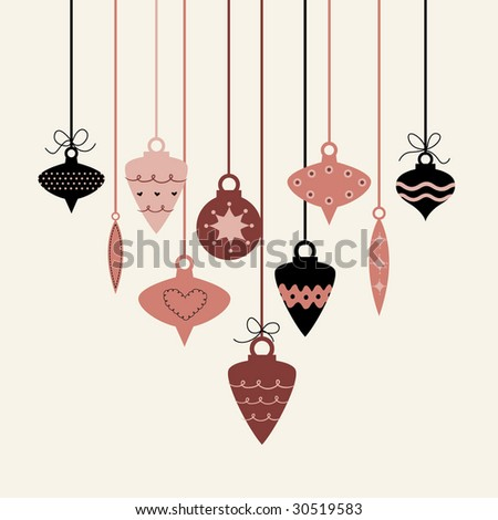 Christmas balls(hanging) - stock vector