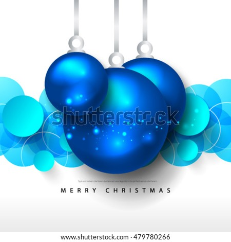 Christmas Balls Layout/Design Cover Background