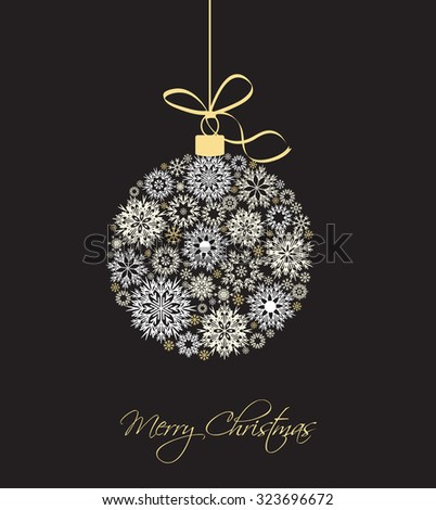 Christmas balls made from snowflakes vector illustration - stock vector