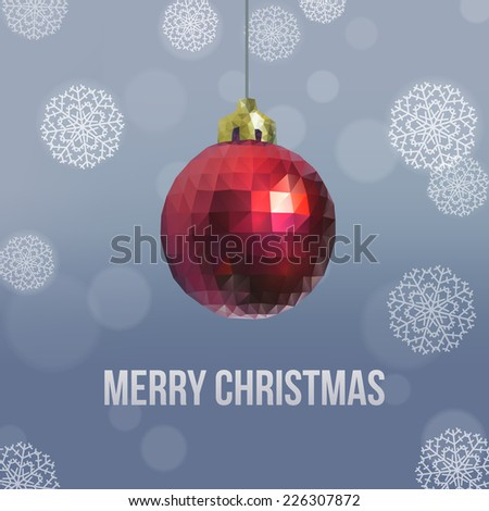 Christmas balls of triangles. Vector illustration