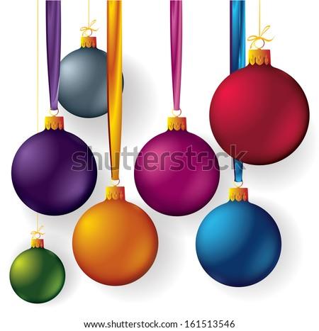 Christmas balls. Vector. - stock vector