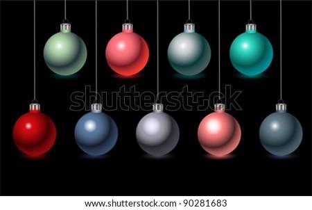Christmas Balls, vector - stock vector