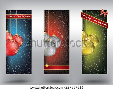 Christmas banner - stock vector