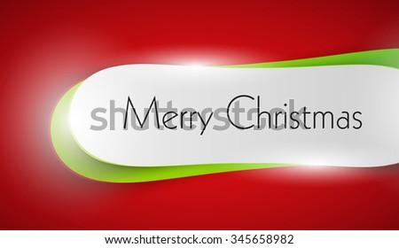 Christmas banner easy all editable - stock vector