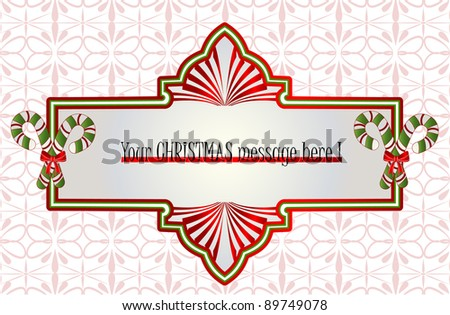 christmas banner (use with or without candycanes) - stock vector