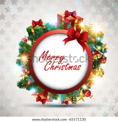 Christmas Banner. Vector Illustration. - stock vector