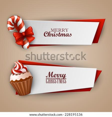 Christmas banners set  - stock vector