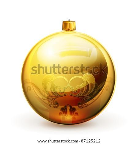 Christmas bauble, vector - stock vector