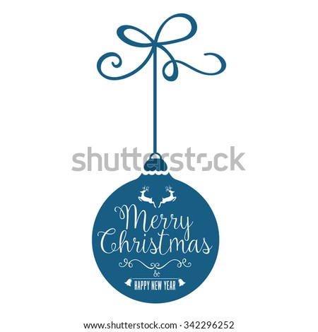 Christmas Bauble with Greetings - stock vector