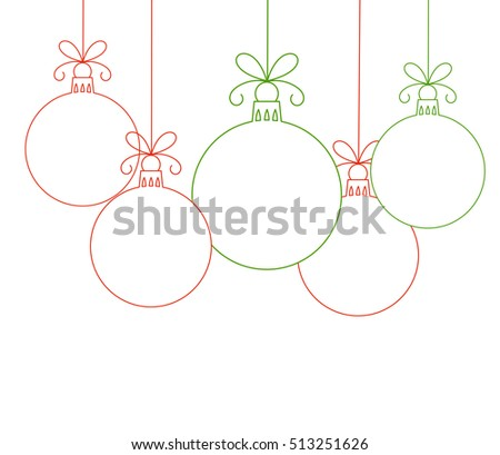 Christmas baubles linear shapes. Vector illustration