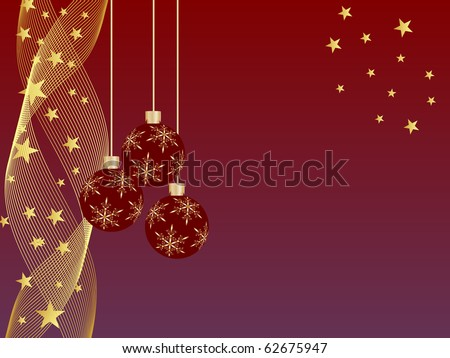 christmas baubles - vector - stock vector