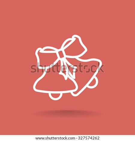 Christmas bells icon - stock vector