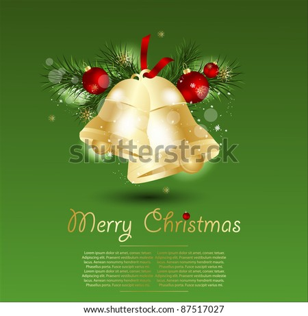 Christmas Bells vector illustration. - stock vector