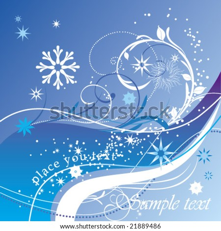 christmas blue abstract backdrop