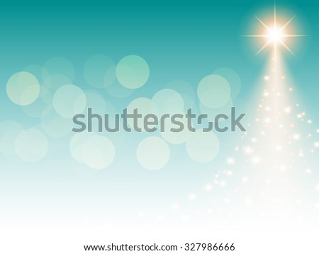Christmas blue background with Christmas tree, vector illustration. - stock vector