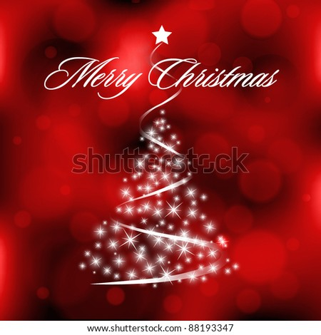 Christmas Blurry Background with Circles - stock vector