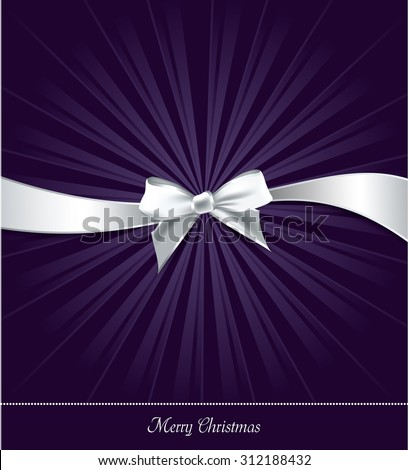 Christmas Bow Background. - stock vector