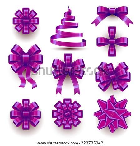 Christmas Bows - stock vector