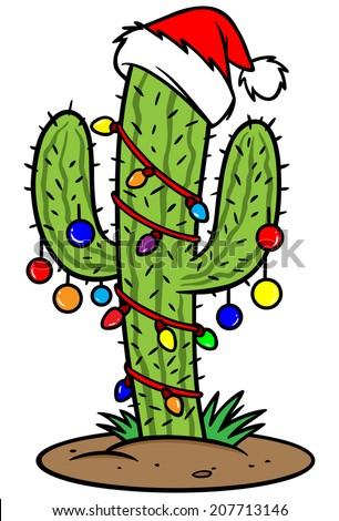 Christmas Cactus Stock Vector