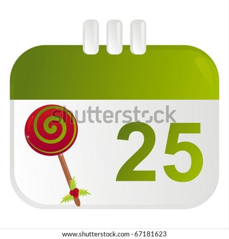 christmas calendar icon - stock vector