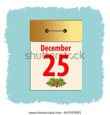 Christmas Calendar Template Postcard Greeting New Stock Vector